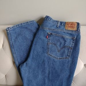 LEVI'S 550 48 x 32 Relaxed Fit Jeans Blue Men's